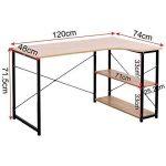 WOLTU TSB06hei Table de Bureau en Bois et Acier avec étagère Env. 120 x 74 x 71,5 cm de la marque WOLTU image 4 produit
