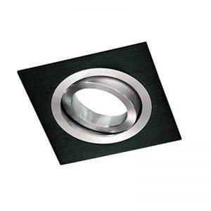 Wonderlamp Ampoule encastrable carrée avec douille GU10 9 x 9 x 2,5 cm 9 x 9 x 2,5 cm noir de la marque Wonderlamp image 0 produit