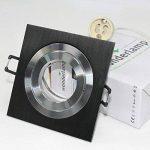 Wonderlamp Ampoule encastrable carrée avec douille GU10 9 x 9 x 2,5 cm 9 x 9 x 2,5 cm noir de la marque Wonderlamp image 1 produit