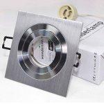 wonderlamp classic w-e000103Pack de spots encastrables carrés avec douille gU10, gris, 9x 2.5cm, lot de 5 de la marque Wonderlamp image 3 produit