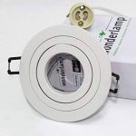 wonderlamp classic w-e000109Pack de spots encastrables ronds avec douille gU10, blanc, 9.3x 2.5cm, lot de 10 de la marque Wonderlamp image 3 produit