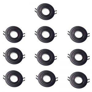 wonderlamp w-e000117Pack 10unités classic à encastrer ronde bascule, noir de la marque Wonderlamp image 0 produit