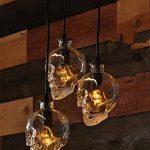 WSND Moderne Simple Loft Skull Head Lustre Bouteille en verre Lampe suspendue Couloir nuit Living Room Bar 3 Pendant Lamp, 220V-240V de la marque WSND image 1 produit