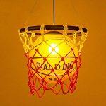 WSXXN Creative Basketball Pendentif Lumière En Verre Abat-Jour Lustre avec E27 Porte-Lampe En Cuivre Bar Lumière Personnalité Magasin Sport Thème Art Lustre de la marque Wsxxn image 4 produit