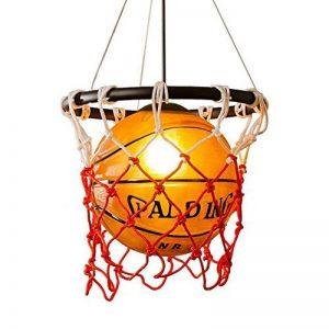 WSXXN Creative Basketball Pendentif Lumière En Verre Abat-Jour Lustre avec E27 Porte-Lampe En Cuivre Bar Lumière Personnalité Magasin Sport Thème Art Lustre de la marque Wsxxn image 0 produit