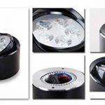 WSXXN LED 3W 5W 7W Aviation Aluminium Ronde Downlight Surface Monté Vêtements Magasin Showroom Wall Spotlight (Noir, Argent, Blanc) (Couleur : NOIR-3W) de la marque Wsxxn image 1 produit