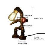 WSXXN Tube de l'eau de personnalité industrielle de style rétro lumière lampe de table en fer forgé fer tuyaux pour bureau de chevet (Robot Steampunk) de la marque Wsxxn image 1 produit