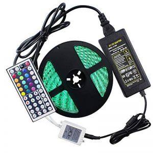 WYFC 5M Bandes Lumineuses LED Flexibles 300 LED 5050 SMD 1 44Keys Télécommande/Adaptateur d'alimentation 1 X 5A RVB Imperméable/Découpable / Connectible 100-240 V de la marque WYFC image 0 produit
