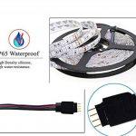 WYFC 5M Bandes Lumineuses LED Flexibles 300 LED 5050 SMD 1 44Keys Télécommande/Adaptateur d'alimentation 1 X 5A RVB Imperméable/Découpable / Connectible 100-240 V de la marque WYFC image 3 produit