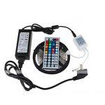 WYFC 5M Barrette D'eclairage RVB 300 LED 5050 SMD 1 Adaptateur 12V 6A / 1 44Keys Télécommande / 1 Câble CA RVB Découpable/Imperméable / Décorative 1Set / IP65 / Auto-Adhésives de la marque WYFC image 1 produit