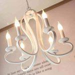 wysm Lustre Lumière Nuances Plafond Cristaux - Méditerranéen Coréen Simple et créatif Restaurant Lumières Noir et Blanc Américain Lustres (Couleur : Blanc) de la marque Wysm Lustre image 2 produit