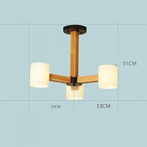 XDD Lustre-Creative Moderne en Bois Massif LED Lustre 3 Titulaire  5 Support  8 Titulaire Lampes Salon Lumières Chambre Lumières Restaurant Couloir Illumination de la marque XDD image 0 produit