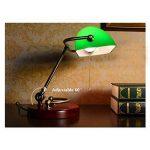 XIANGYU Lampe de bureau traditionnelle de banquiers de bronze antique abat-jour vert lampe de table pour l'étude de bureau de chambre à coucher de salon de lecture, deux styles à choisir ( Couleur : Vert ) de la marque Xiangyu image 1 produit