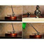XIANGYU Lampe de bureau traditionnelle de banquiers de bronze antique abat-jour vert lampe de table pour l'étude de bureau de chambre à coucher de salon de lecture, deux styles à choisir ( Couleur : Vert ) de la marque Xiangyu image 3 produit