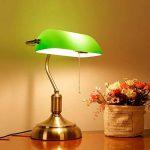 XIANGYU Rétro lampe de table traditionnelle de style de banquiers de lampe et abat-jour en verre vert lampe de bureau de banquier pour l'étude de bureau de salon Lecture l ampe de bureau en métal de la marque Xiangyu image 1 produit