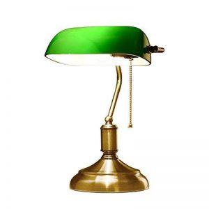 XIANGYU Rétro lampe de table traditionnelle de style de banquiers de lampe et abat-jour en verre vert lampe de bureau de banquier pour l'étude de bureau de salon Lecture l ampe de bureau en métal de la marque Xiangyu image 0 produit