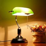 XIANGYU Rétro lampe de table traditionnelle de style de banquiers de lampe et abat-jour en verre vert lampe de bureau de banquier pour l'étude de bureau de salon Lecture l ampe de bureau en métal de la marque Xiangyu image 2 produit