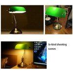 XIANGYU Rétro lampe de table traditionnelle de style de banquiers de lampe et abat-jour en verre vert lampe de bureau de banquier pour l'étude de bureau de salon Lecture l ampe de bureau en métal de la marque Xiangyu image 3 produit