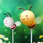 XIAOJIA Lampe de bureau Lampe de table créative d'abeille, lumière régulière de trois quarts, lumière d'apprentissage de bureau d'étudiant-protection, lampe de table 3D , A de la marque XIAOJIA image 2 produit