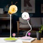 XIAOJIA Lampe de bureau Lampe de table créative d'abeille, lumière régulière de trois quarts, lumière d'apprentissage de bureau d'étudiant-protection, lampe de table 3D , A de la marque XIAOJIA image 3 produit