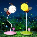 XIAOJIA Lampe de bureau Lampe de table créative d'abeille, lumière régulière de trois quarts, lumière d'apprentissage de bureau d'étudiant-protection, lampe de table 3D , A de la marque XIAOJIA image 4 produit