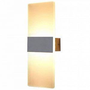 XIARU-- Moderne Appliques Murales Interieur, LED 6 W 110 V-260 V,pour salon, chambre d'escalier, couloir, éclairage mural, 3000 K(Lumière blanche chaude, coquille blanche&Argent) de la marque XIARU image 0 produit