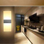 XIARU-- Moderne Appliques Murales Interieur, LED 6 W 110 V-260 V,pour salon, chambre d'escalier, couloir, éclairage mural, 3000 K(Lumière blanche chaude, coquille blanche&Argent) de la marque XIARU image 1 produit