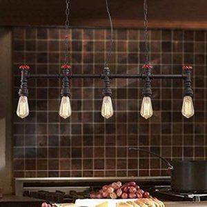 XSPWXN Chandelier à pipe à eau Haute luminosité E27 Source lumineuse Iron Craft Lamp Body Style européen Retro Creative Loft Bar Café Restaurant industriel Chandelier à pipe à eau 110-240 volts Voltage alternatif de la marque XSPWXN image 0 produit