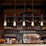 XSPWXN Chandelier à pipe à eau Haute luminosité E27 Source lumineuse Iron Craft Lamp Body Style européen Retro Creative Loft Bar Café Restaurant industriel Chandelier à pipe à eau 110-240 volts Voltage alternatif de la marque XSPWXN image 2 produit