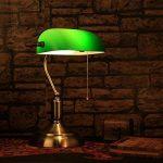 YFF@ILU Ancien antiquité verre vert bronze rétro poli étude chambre chambre lampe de table de la marque GWY&YFF image 1 produit