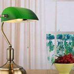 YFF@ILU Ancien antiquité verre vert bronze rétro poli étude chambre chambre lampe de table de la marque GWY&YFF image 2 produit