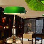 YFF@ILU Ancien antiquité verre vert bronze rétro poli étude chambre chambre lampe de table de la marque GWY&YFF image 4 produit