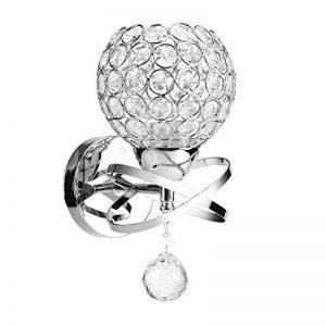 Yosoo LED E14/E27 Lampe Murale en Cristal Applique de Boule Moderne Lumière Lustre Plafonnier Suspension de la marque Yosoo image 0 produit