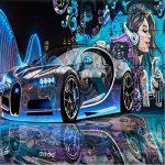 Yosot Papier peint Fond D'Écran 3D Pour Murs Bar Moderne D'Amélioration De L'Image De Fond D'Une Peinture Murale Graffiti Murale Voiture De Sport-140Cmx100Cm de la marque image 3 produit