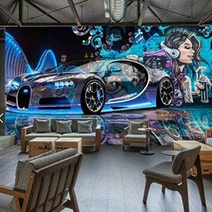 Yosot Papier peint Fond D'Écran 3D Pour Murs Bar Moderne D'Amélioration De L'Image De Fond D'Une Peinture Murale Graffiti Murale Voiture De Sport-140Cmx100Cm de la marque image 0 produit