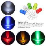 YoungRich 300 Pièces 3 mm 5 mm Diodes Électroluminescentes Diode Led 2 broches Tête Ronde Lampe LED kit assortis avec Rouge Jaune Bleu Blanc Vert de la marque YoungRich image 2 produit