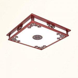 Ywyun Lampe de plafond en bois de style chinois, lustre led simple moderne, salon d'étude, restaurant, plafonnier décoré de la marque Style wei image 0 produit