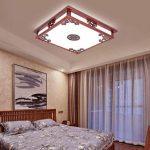 Ywyun Lampe de plafond en bois de style chinois, lustre led simple moderne, salon d'étude, restaurant, plafonnier décoré de la marque Style wei image 4 produit