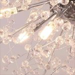 Ywyun Luxe Chaude Boule De Cristal Suspendue Lampe Mode Feux D'artifice Étoiles Salon Chambre Café Magasin De Vêtements Plafond Éclairage Lustres ( Color : White light ) de la marque Style wei image 3 produit