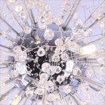 Ywyun Luxe Chaude Boule De Cristal Suspendue Lampe Mode Feux D'artifice Étoiles Salon Chambre Café Magasin De Vêtements Plafond Éclairage Lustres ( Color : White light ) de la marque Style wei image 4 produit