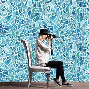 Z Carrelage Autocollant - Sticker adhésiv pour mural de salle de bain et cuisine | Tuiles décalcomanies - Stickers carrelage Carrelage Adhesif Moderne rétro Cz008 style baroque , 20*100cm*5pcs de la marque JY ART image 0 produit