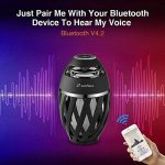 Zanflare Lampe Ambiance avec Effet de Flamme, Enceinte Bluetooth, USB Rechargeable, sans Fil, Etanche IP65 Lampe Design Moderne, Lampe de Chevet avec Haut-Parleur de la marque Zanflare image 1 produit