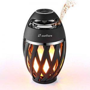Zanflare Lampe Ambiance avec Effet de Flamme, Enceinte Bluetooth, USB Rechargeable, sans Fil, Etanche IP65 Lampe Design Moderne, Lampe de Chevet avec Haut-Parleur de la marque Zanflare image 0 produit