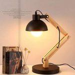 ZHITENG Lampe De Table Lampe D'étude En Bois Lampe De Table En Bois Pliante Lampe Créative Oeil Table Bureau Lampe Chambre Lampe De Chevet 15 * 60 * 18 Cm de la marque ZHITENG image 2 produit