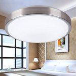 ZHMA 18W Plafonnier LED, Cool blanc, Lampe de Plafond Imperméable IP44, Luminaire Intérieur, Eclairage Rond, Parfait pour Plafond de Salle de Bain, Cuisine, Couloir, Salon de la marque ZHMA image 3 produit