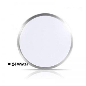 ZHMA Plafonnier affleurant de 24W, lampe de plafond en aluminium de LED, voyant imperméable de LED, blanc frais, lampe de plafond moderne de salle de bains, basse consommation. de la marque ZHMA image 0 produit