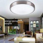 ZHMA Plafonnier affleurant de 24W, lampe de plafond en aluminium de LED, voyant imperméable de LED, blanc frais, lampe de plafond moderne de salle de bains, basse consommation. de la marque ZHMA image 4 produit