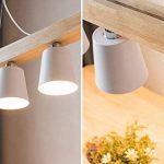 ZMH LED Lampe à suspension en bois et métal rétro Lampe suspension Lampe suspension Pendante & Lampe plafonnier E27 Ampoules pour salle à manger salon bureau café Bar Moderne blanc de la marque ZMH image 3 produit